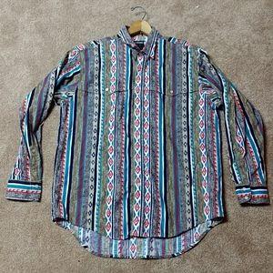 Vintage Southwest button up shirt. Size large